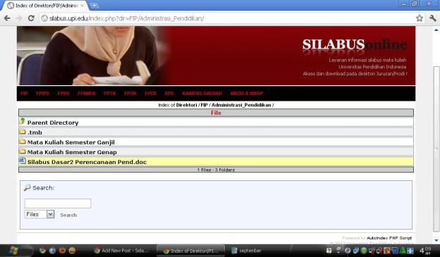 Silabus Online Administrasi Pendidikan UPI